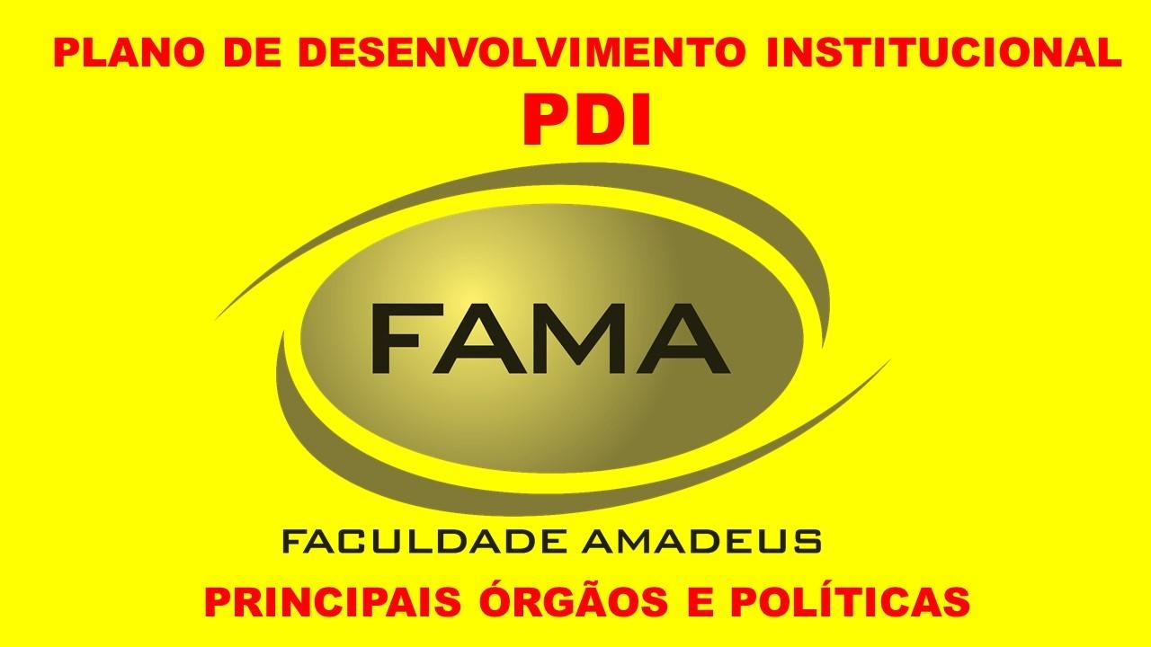 PLANO DE DESENVOLVIMENTO INSTITUCIONAL - PRINCIPAIS ÓRGÃOS E POLÍTICAS
