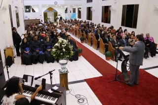 Culto evangélico na 1° Igreja Presbiteriana Independente de Aracaju