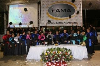 FAMA realiza Colação de Grau dos alunos concluintes do período 2017.1